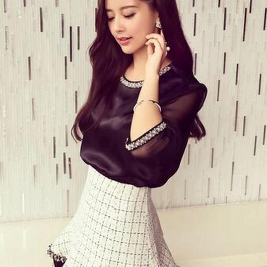 フレアミニスカート/ショート ブラック