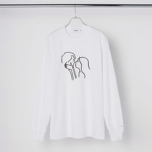 "Long Sleeve Tee ""Kiss"" White"