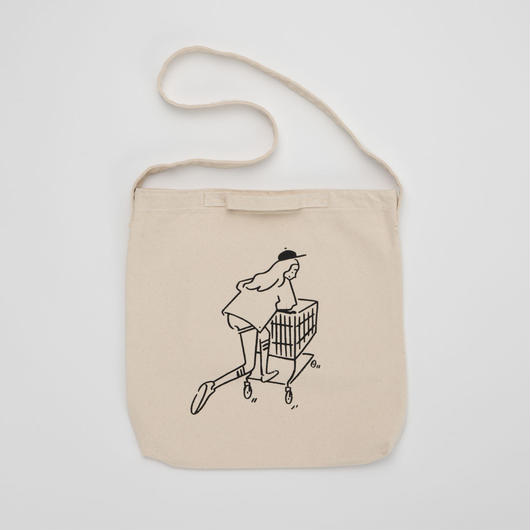 "2WAY Tote bag ""Shopping Girl"""