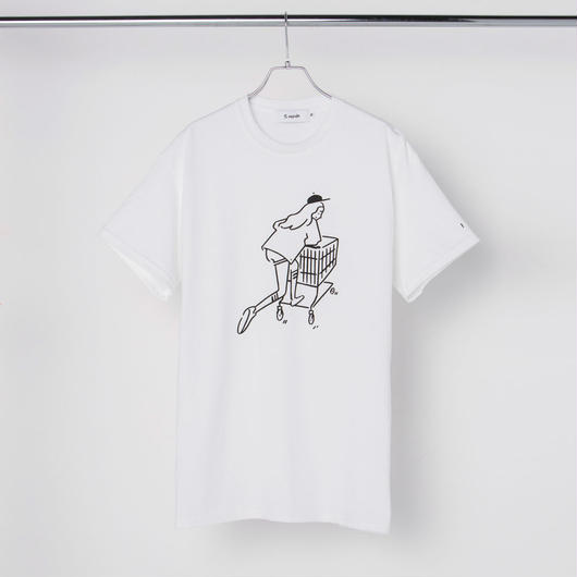 "T-shirt ""Shopping Girl"" White"
