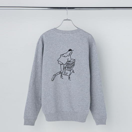 "Sweatshirt ""Shopping Girl"" Gray"