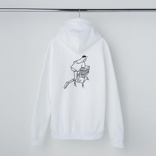 "Hoodie ""Shopping Girl"" White"