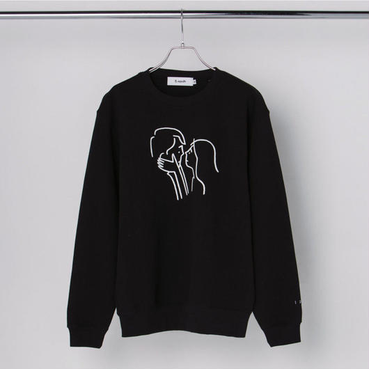 "Sweatshirt ""Kiss"" Black"