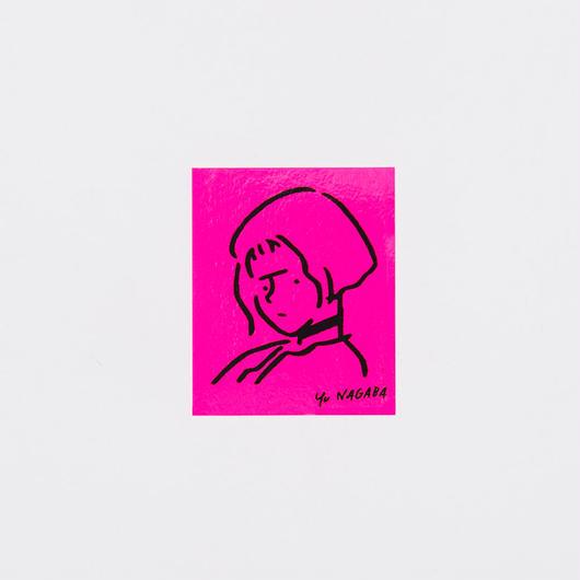 "Sticker ""Girl"" Pink"