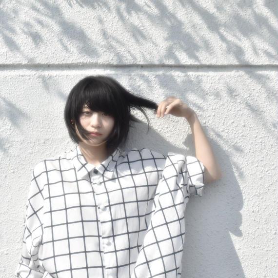 結/格子 0658 original ロングシャツ