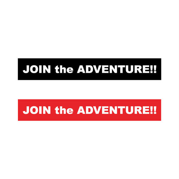 [JOIN the ADVENTURE!!] BOX LOGO Sticker 2color Set
