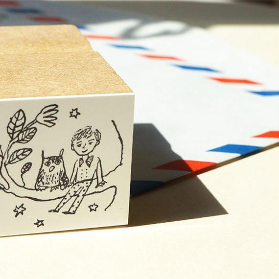 挿絵スタンプ:on the wood