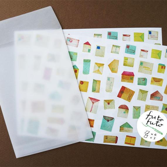 futo futo letter set / 封筒柄のレターセット