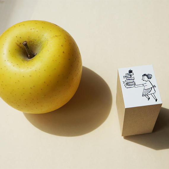 挿絵スタンプ:apple girl