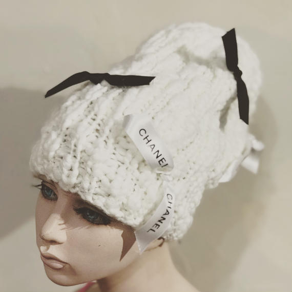 KNIT CAP 【Ribbon  ribbon ribbons】