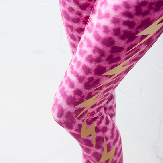 4U_PARISAMSTERDAM 【レギンス LIGHTNING LEOPARD】Pink/Gold