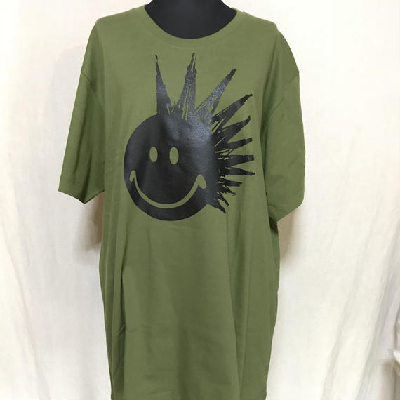 PUNK SMILE  UネックTシャツ