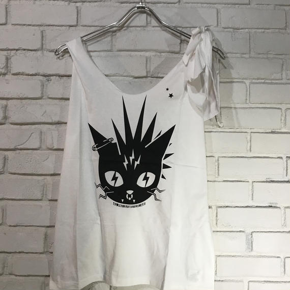 Remake Min lO.P. 4U_Punk Cat 【リメイクTミニワンピース4U_ パンクキャット】