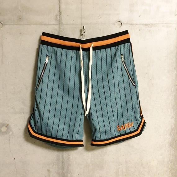 TYPEⅡ■BasketShorts■BLUEGRAY/stripe