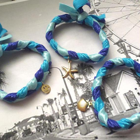 #Hair Tie Bracelet -Blue- ヘアタイブレスレットブルー