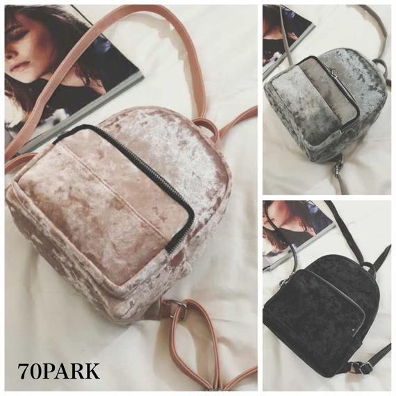 #Crash Velour Mini Backpack  クラッシュ ベロア ミニ バックパック 全3色
