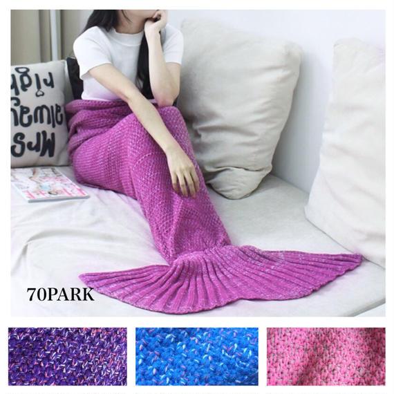 # Mermaid Tail Blanket マーメイド テール ブランケット 人魚 シェル