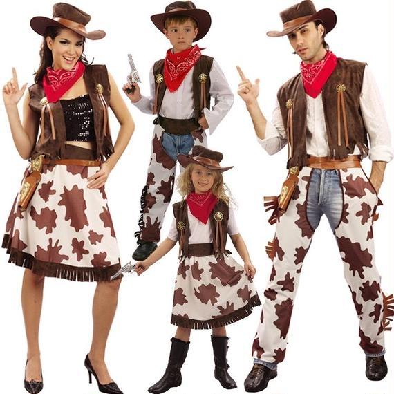 # Cowboy & Cowgirl Costume カウボーイ カウガール ウエスタン コスチューム ファミリー カップル
