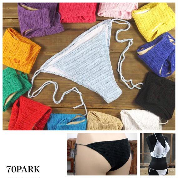 #Crochet Bikini Bottom -Swimwear-  単品 クロシェビキニ ボトム 全13色 水着 バラ売り