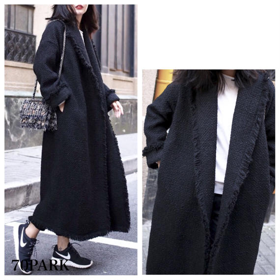 # Oversized Gown Coat   オーバーサイズ ガウンコート ロングコート マキシ