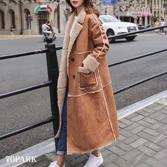 # Faux Shearling Long Coat  フェイク ムートン ロングコート全4サイズ ブラウン ファーコート