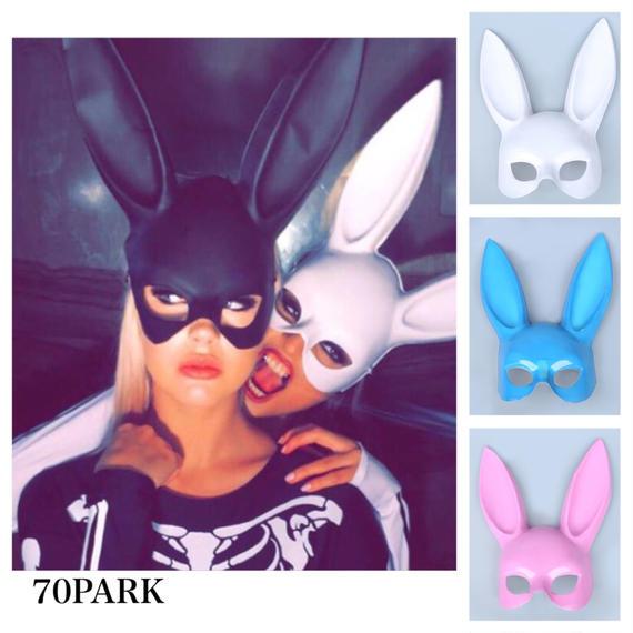 #Bunny Mask  バニー マスク ラビット 4色  仮面 グループ ハロウィン