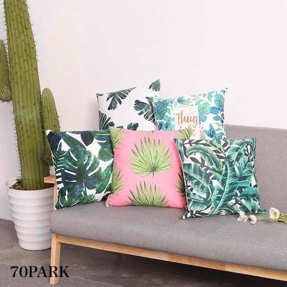 #Botanical Print  Cushion Cover ボタニカル プリント クッションカバー 全5タイプ