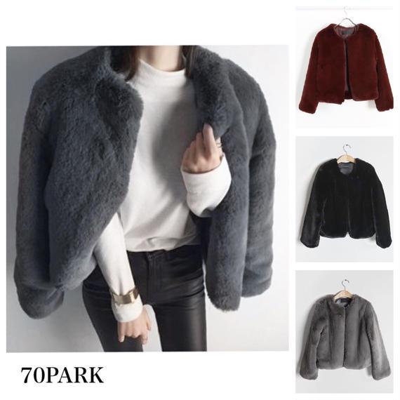 # Eco Fur Coat  エコ ファー コート フェイクファー 3色 ファージャケット