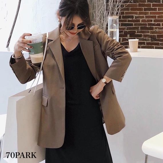 #Long Tailored Jacket  シンプル テーラード ジャケット  全2色  6サイズ展開