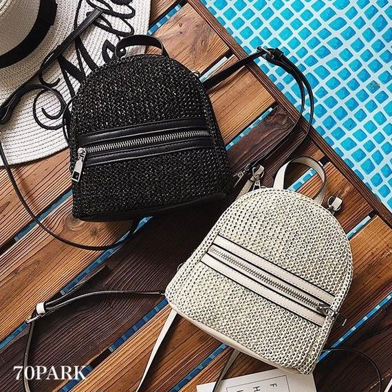 #2way Mini Basket Backpack  ミニ かご バックパック 全2色 リュック ショルダー