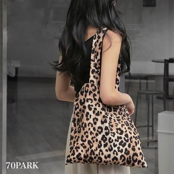 #Leopard Print Tote Bag レオパード柄 プリント トートバッグ 豹柄 A4