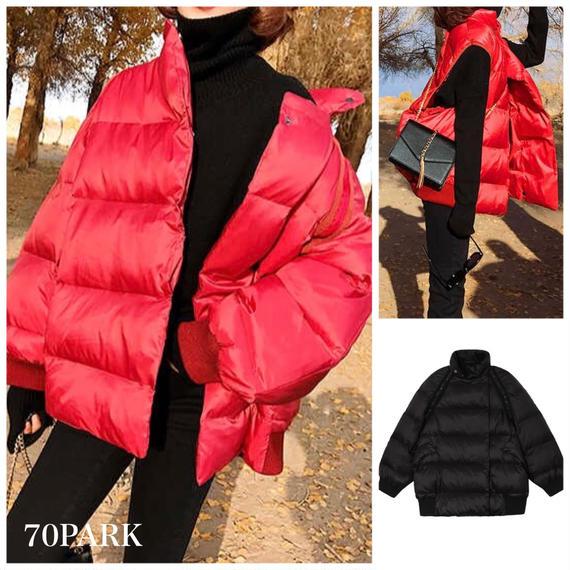 #2way Padding Jacket  カラー 中綿 ボリューム ジャケット 全2色 ダウン