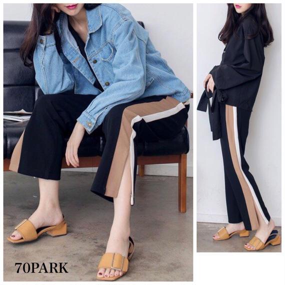 # Sideline Long Pants  スリット サイドライン  パンツ