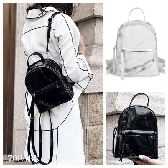 #2way  Marble Print Mini Backpack  大理石柄 ミニ バックパック 全2色 ショルダー
