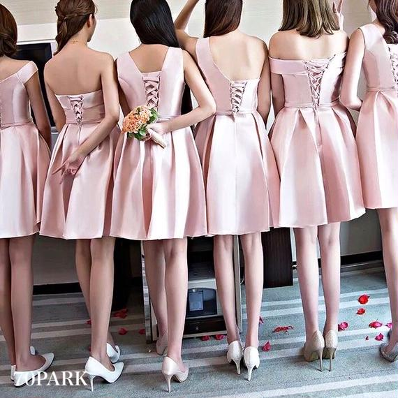#Pink Fit and Flare Dress   ピンク フレアー ドレス 全6種 フォーマル ワンピース ブライズメイド