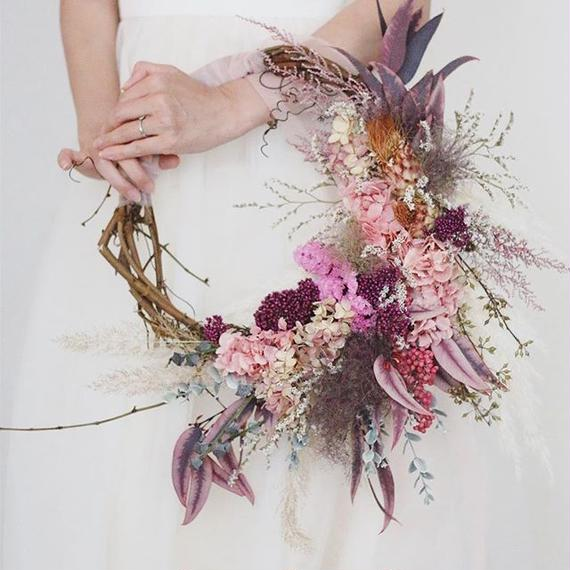 wreathe bouquet +  headdress+boutonniere...3 items set.C