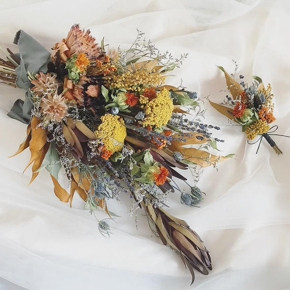 bouquet+boutonniere...2items set
