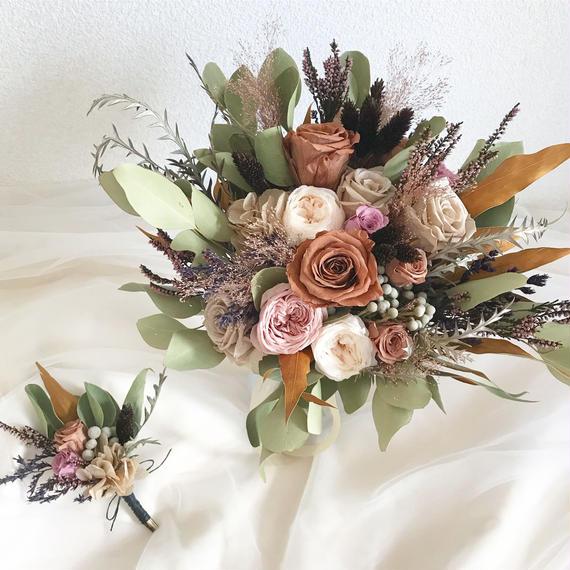 bouquet + boutonniere...2 items set