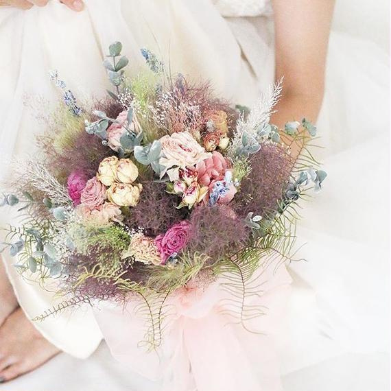 bouquet + headdress + boutonniere...3 items set.D