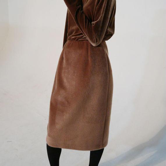 -2colors- fake fur mood skirt