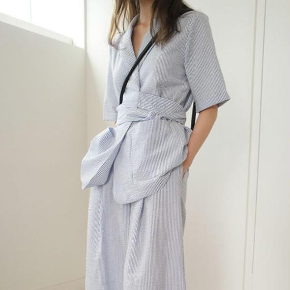 -summer stripe- rap design jacket (set item)