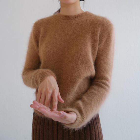 ●11月 special sale● angora crew knit