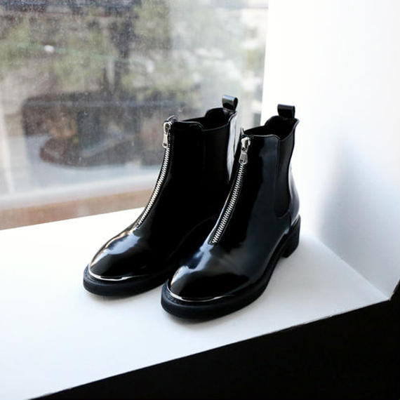 center zip side gore boots