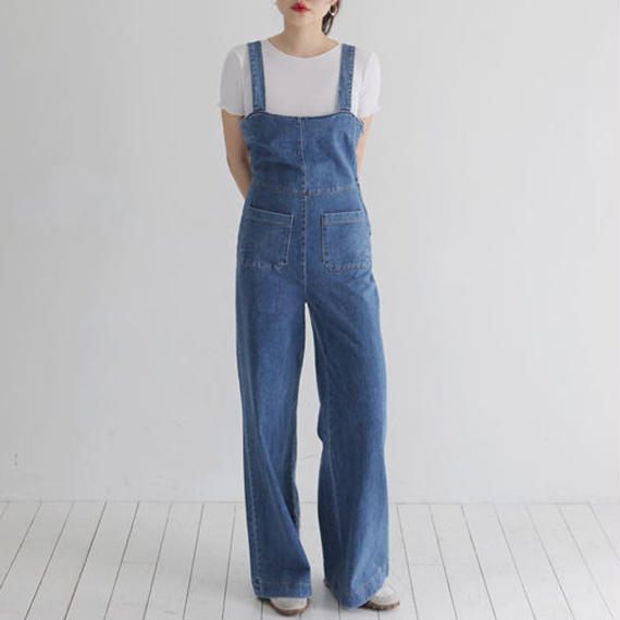 body conscious denim overall