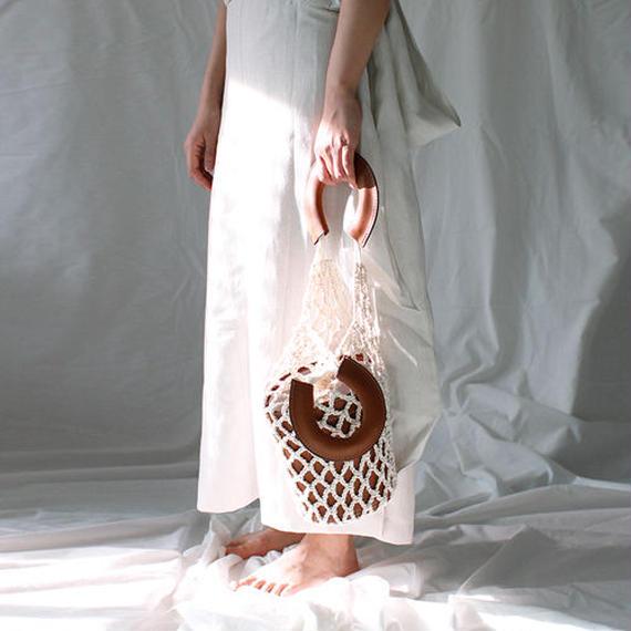 basket leather bag