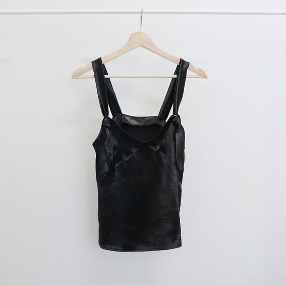 [ sample SALE ] glitter satin eyelet camisole