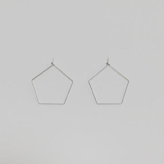 pentagon wire pierced earrings