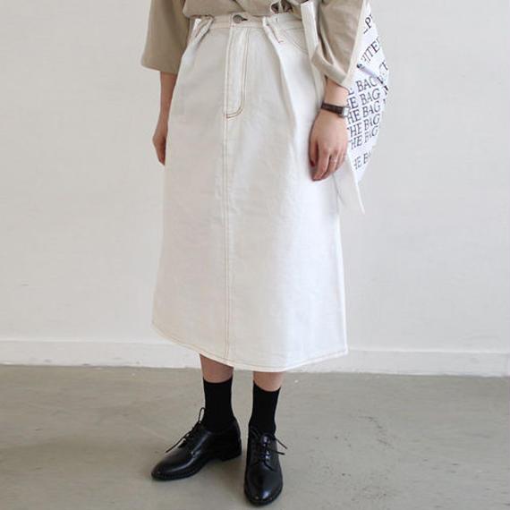 waist tuck denim skirt