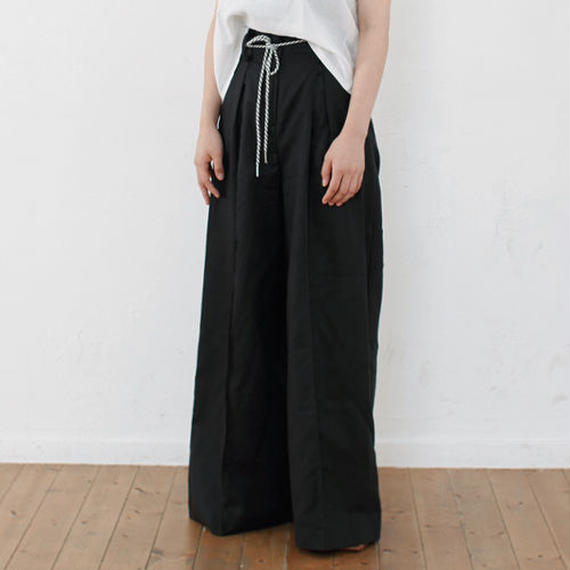 high waist side linen pants