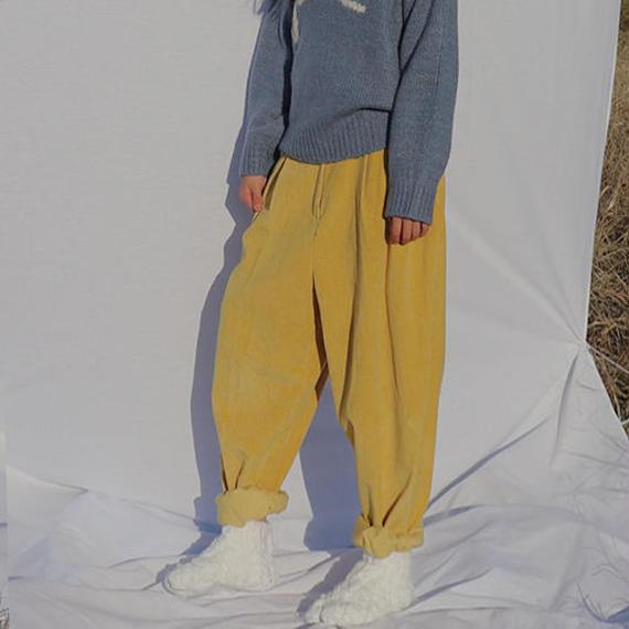 -2 color- high waist corduroy pants
